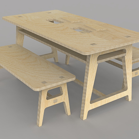 New Boosbeck Industries Table Bench